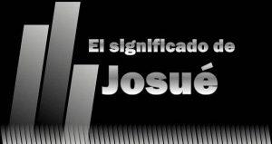 Significado de  Josué