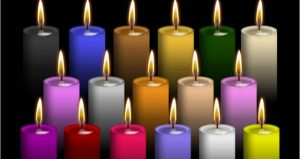 El significado de las velas y sus colores