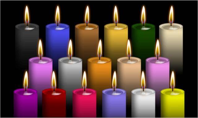 Los colores de las velas y su significado