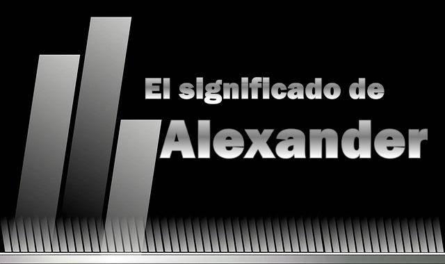 Significado de Alexander