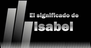 Significado de Isabel