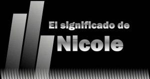 Significado de Nicole