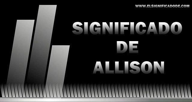 significado de allison