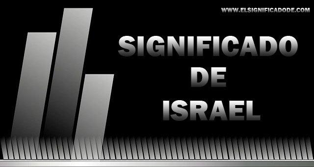 significado de israel