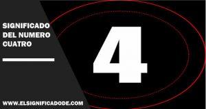 Significado del número cuatro