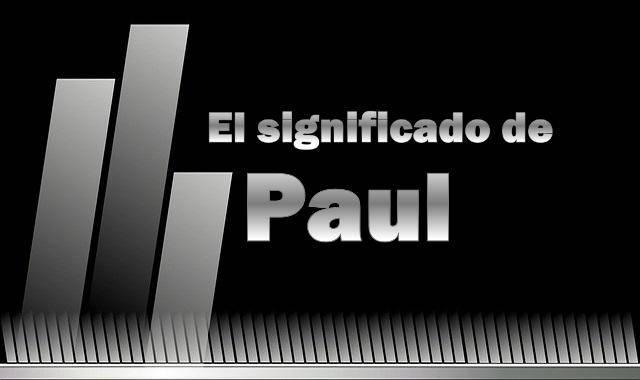 Significado de Paul