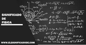 Significado de física