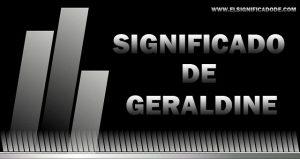 Significado de Geraldine nombre femenino de origen germano