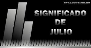 Significado de Julio nombre masculino de origen latín